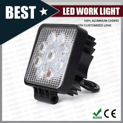 High Quality 27w amber square led work light Auto truck led lights 27W LED DRIVING