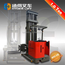 2015 new design china fork reach electric stacker for narrow aisle