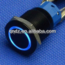 QN19-C1 19mm 12V blue Led black Push Button Angel Eye Metal Momentary car Switch