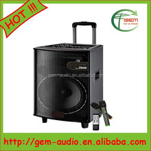New Style Plastic Loudspeaker with USB with Amplifier,Wireless Microphone Gem-70010