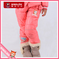2015 winter girls down pants extra thick long pants wholesale children's boutique clothing