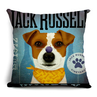 decorative throw pillow case with puppy STPC012