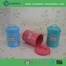 EU style cheap price metal food storage canisters