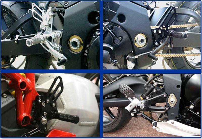 For KAWASAKI NINJA250R 2008-2012 Adjustable Custom Motorcycle Rearsets Rear Sets FARKA001