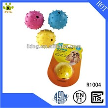 High quality squeaky spike ball rubber dog toy