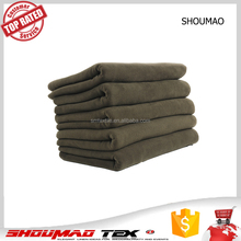 Hot sale promotional army green color blanket