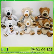 three bear factory supply hot sell plush teddy bear soft animal toy