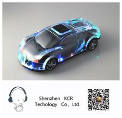 Crystal car shape speaker bluetooth speaker portable wireless car subwoofer