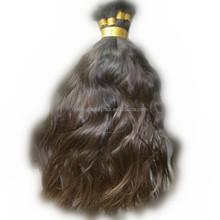 Unprocessed brazilian natural wave hair bulk