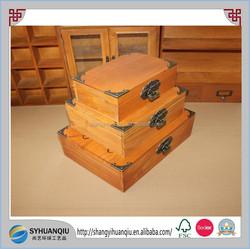 Zakka wooden dirary box wooden file box wooden gift box