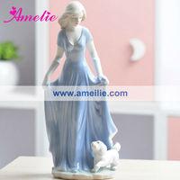 AT025 Blue Dress European Engrave Home Decoration Pieces Making