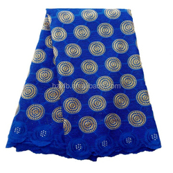 2016 high grade brial nigerian lace dress / African royal blue swiss voile lace fabrics for party dress