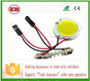 Trade Assurance led car dome light festoon Car festoon COB Round Reading light with T10 feston adapter,led car interior light