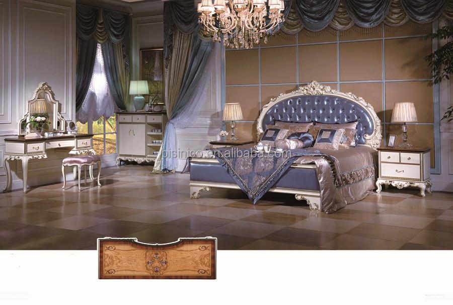 Antique Rococo Bed Room Furniture Italian Style Bedoom