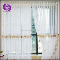 Wholesale Top Quality Chemical Embroidered (Emb) Voile Fabric Curtain