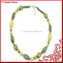 Jewelry Cabinet Natural Green Lava Stone Necklace