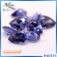 FACETS GEMS Factory Price High Quality Artificial CZ Tanzanite Rough