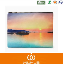 romantic sunset Graphic Clutch bag with gold zipper for summer