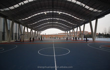 2015 Plastic Flooring Type and Outdoor Usage standard basketball court
