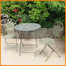 Continental Iron chairs outdoor balcony chairs child three-piece folding tables and chairs foliage garden leisure furniture