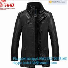 Waterpoof long trench coat for men windpoof stand collar long leather coat long leather coat
