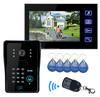 apartment video door phone intercom access control video door phone with RFID Keyfobs IR Camera Code Keypad for villa
