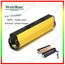 (130263) Factory Price Metal Rechargeable Led Torch Cigarette Lighter Charge with USB