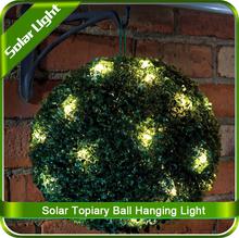 Solar Powered Garden Topiary Ball Sphere Light Decoration Lamp