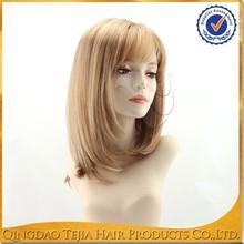 Fashionable cheap 100% japanese kanekalon high temperature fiber synthetic blond wigs bob