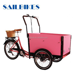 multi function front cargo tricycle with cusions for carring kaids