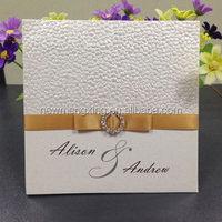 trade fair invitations Latest export embossed pebble paper wedding invitations