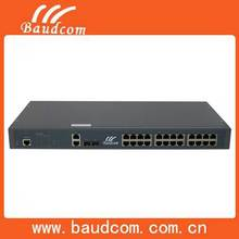 2 ports Gigabit Manageable fiber optic ethernet switch with 24 Fast Ethernet ports