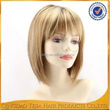 alibaba express short synthetic blonde bob wig, silicone wigs