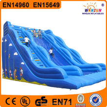 Adult kids outdoor playing inflatable games commercia cartoon inflatable slide