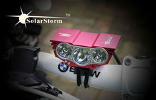 solar storm bike light X3 CE & ROHS certificated 2200 lumen