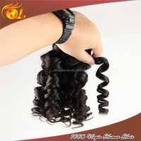 Remy Unprocessed Ombre Spring Curly Synthetic Braiding Hair Extension Heat Resistant