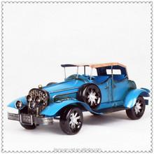 New Product Blue Color Vintage Metal Car Model, Metal Car Toy for sale