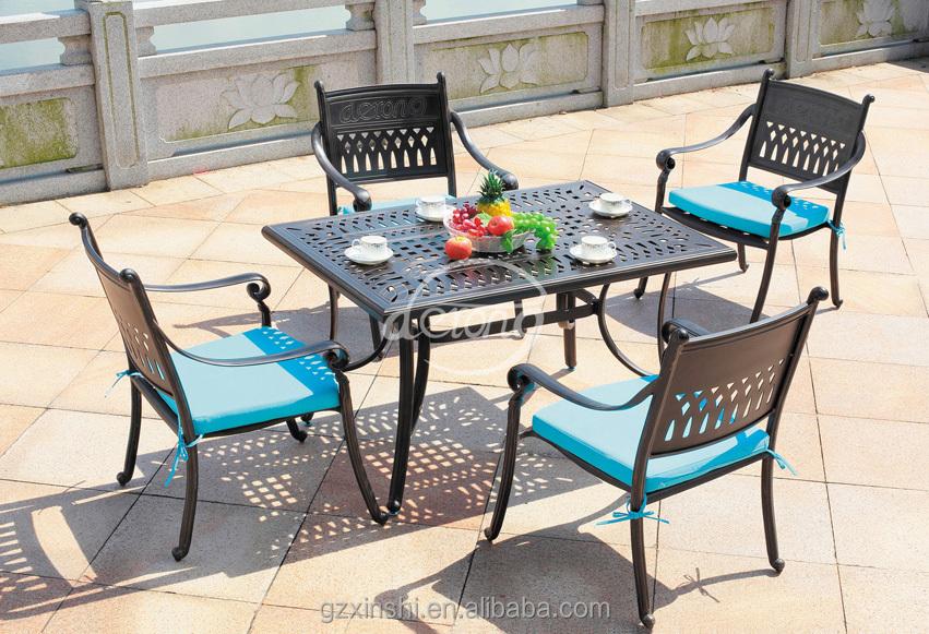 furnitur taman outdoor furniture set logam set cor aluminium