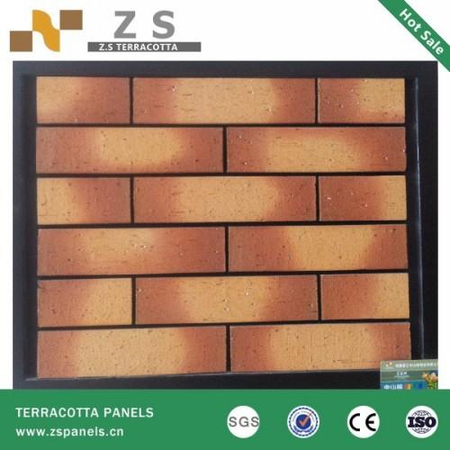 En terre cuite carrelage panneau d 39 argile brique mur rideau briques bri - Panneau brique decorative ...