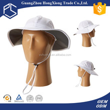 Cute Style kids terry towel plain polo white cotton bucket hat