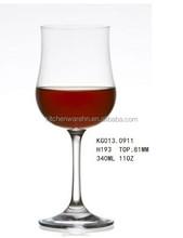 400ml bicchiere di vino di cristallo coppa tulipano progettazione/vetro senza piombo vino tazza con gambo