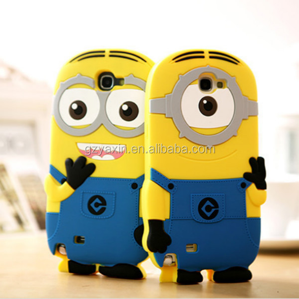 For samsung galaxy note3 minions case, mobile phone case funny case for samsung galaxy note3