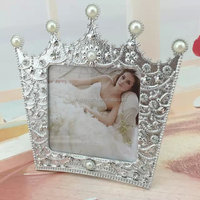"2015 Fashion Free shipping(100pcs/lot) fully handmade crown design 5""x7"" jeweled picture frame for wedding/Christmas Gift"