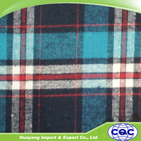 hot sale yarn dyed 100% cotton plaid flannel fabric