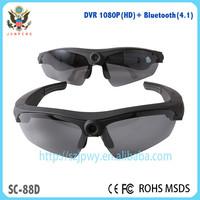 Portable HD driver recorder mini dvr camera Bluetooth 4.1sunglasses Newest Polarized Sunglasses mini dvr sport camera