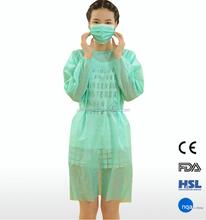 2015 de comprimento não tecido descartável PP fabricante vestido