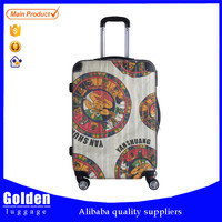 China famous brand promotional PP luggage travel bags unique design luggage trolley bag for wholesaler