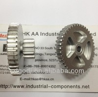 aluminum double spur gears for motorcycle transmission