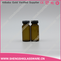 10ml amber medical injection glass bottle, glass serum vial