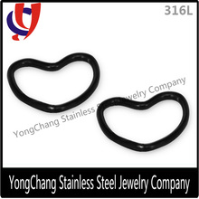 """Stainless Steel Hearted- shape Nose Ring 18G-3/8"""""""